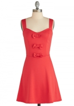 Red bow front dress from Modcloth at Modcloth