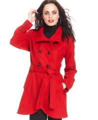 Red coat by Guess at Macys
