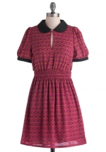 Red collared dress at ModCloth at Modcloth