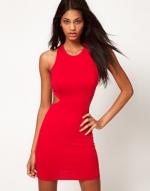 Red cutout dress from ASOS at Asos