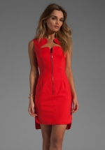 Red dress by Black Halo at Revolve