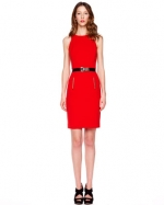 Red dress by Michael Kors at Neiman Marcus