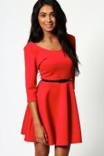 Red dress like Marys from Boohoo at Boohoo