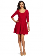 Red flared dress at Amazon