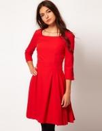 Red flared dress at ASOS at Asos