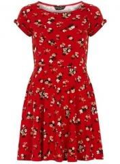 Red floral dress at Dorothy Perkins