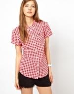 Red gingham shirt at ASOS at Asos