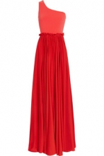Red gown by Lanvin at Net a Porter