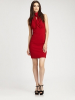 Red halter neck dress like Victorias by Rachel Zoe at Saks Fifth Avenue