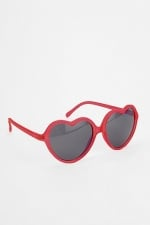 Red heart sunglasses from Urban Outfitters at Urban Outfitters
