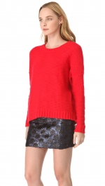 Red knit sweater by Madewell at Shopbop