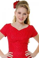 Red lace dress at Unique Vintage