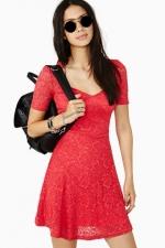Red lace dress at Nasty Gal at Nasty Gal