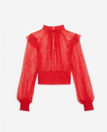 Red lace top at The Kooples