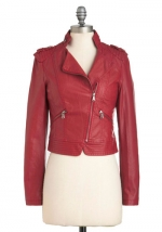 Red leather jacket at Modcloth at Modcloth
