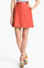 Red leather skirt by Marc by Marc Jacobs at Nordstrom