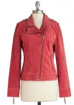 Red moto jacket at ModCloth at Modcloth