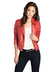 Red moto jacket by Guess at Lord & Taylor
