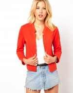 Red open blazer at ASOS at Asos