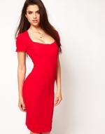 Red pencil dress from ASOS at Asos