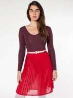 Red pleated skirt from American Apparel at American Apparel