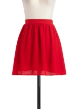 Red pleated skirt like Mindys at Modcloth