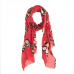 Red print scarf at Jcrew at J. Crew