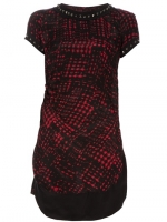Red printed and studded dress by Etoile Isabel Marant at Farfetch