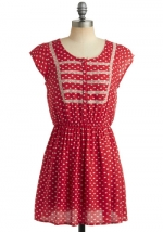 Red printed dress at Modcloth at Modcloth
