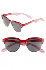 Red retro sunglasses by Steve Madden at Nordstrom