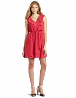Red ruffle dress by BCBGMAXAZRIA at Amazon