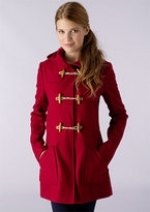Red toggle coat like Mouses at Delias