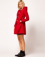 Red toggle coat like Mouses at Asos
