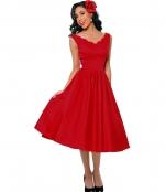 Red vintage style dress at Unique Vintage