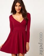 Red wrap dress at Asos