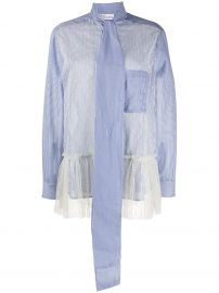 RedValentino point d  x27 esprit panelled shirt point d  x27 esprit panelled shirt at Farfetch