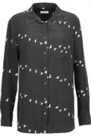 Reese printed washed-silk shirt at The Outnet
