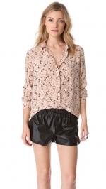 Reese top in anchor print by Equipment at Shopbop