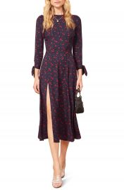 Reformation Zelda Double Slit Dress   Nordstrom at Nordstrom