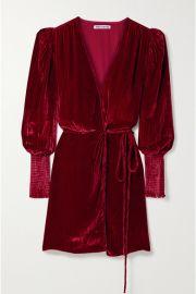 Reformation - Boheme velvet wrap dress at Net A Porter