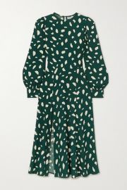 Reformation - Creed printed crepe midi dress at Net A Porter