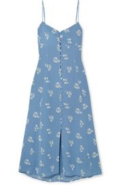 Reformation - Cybill floral-print georgette midi dress at Net A Porter