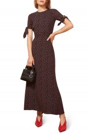Reformation Amsterdam Tie Sleeve Body-Con Maxi Dress   Nordstrom at Nordstrom