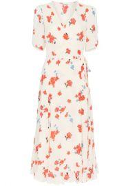 Reformation Napa Printed Wrap Dress - Farfetch at Farfetch