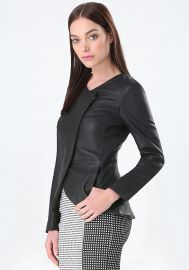 Regina Leather Jacket at Bebe