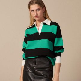 Regular Fit Polo Style Sweater at Sandro