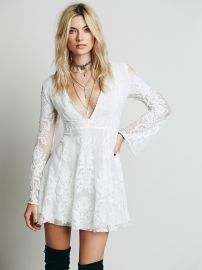 Reign Over Me Lace Dress in ivory at Free People