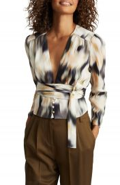 Reiss Alena Wrap Blouse   Nordstrom at Nordstrom