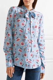 Remi pussy-bow floral-print silk crepe de chine top at Net A Porter