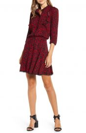 Remo Leopard Print Blouson Shirtdress by Zadig Voltaire at Nordstrom